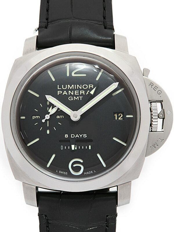 【PANERAI】【裏スケ】パネライ『ルミノール1950 8デイズ GMT』PAM00233 メンズ 手巻き 6ヶ月保証【中古】