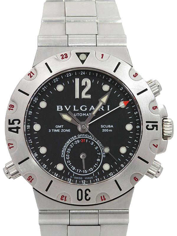 【BVLGARI】【内部点検済】ブルガリ『ディアゴノ スクーバ GMT』SD38SGMT メンズ 自動巻き 1ヶ月保証【中古】