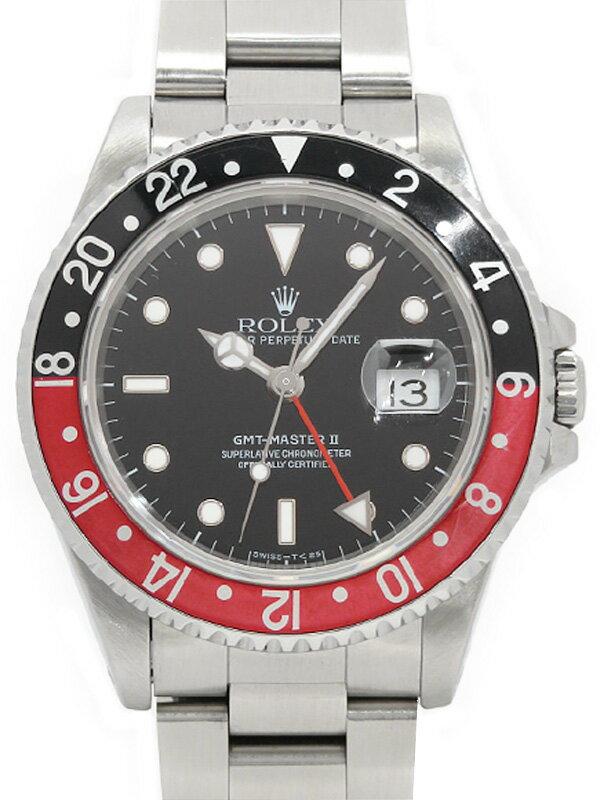 【ROLEX】【OH済】ロレックス『GMTマスター2 赤×黒ベゼル』16710 S番'93年頃製 メンズ 自動巻き 12ヶ月保証【中古】