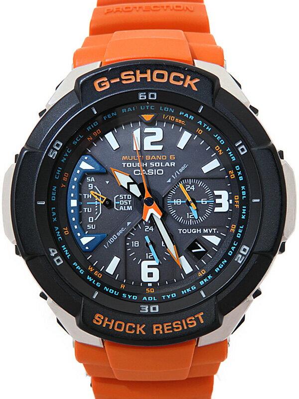 【CASIO】【G-SHOCK】【海外モデル】カシオ『Gショック スカイコックピット』GW-3000M-4E メンズ ソーラー電波クォーツ 1週間保証【中古】