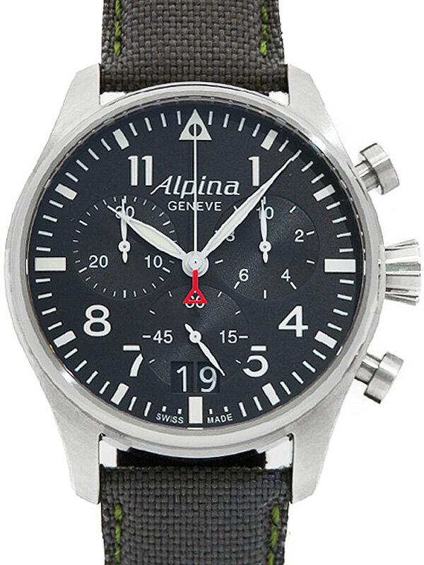 【Alpina】アルピナ『スタータイマー パイロット リミテッドエディション』AL372X4S6 メンズ クォーツ 1ヶ月保証【中古】