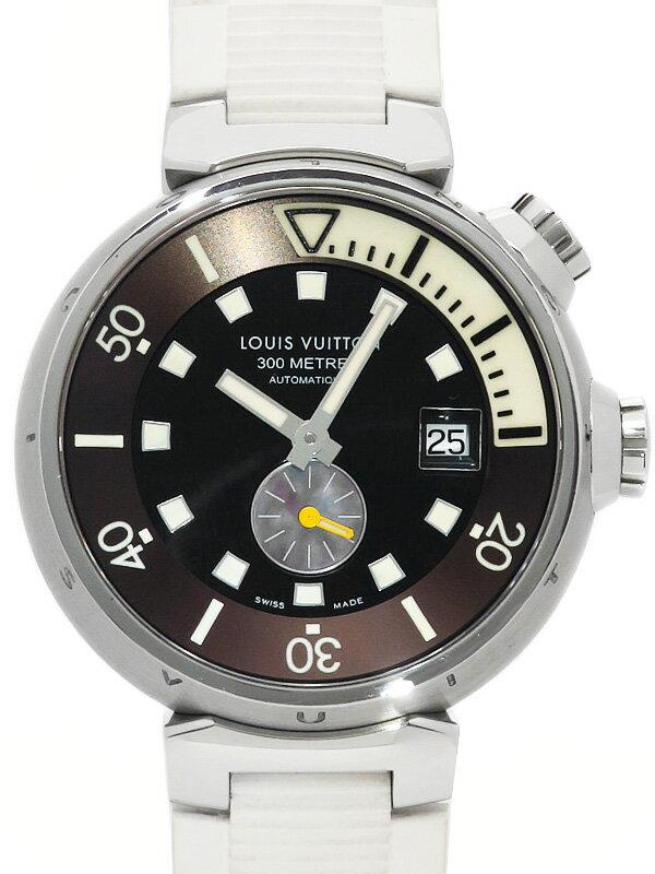 【LOUIS VUITTON】ルイヴィトン『タンブール ダイビング』Q1031 メンズ 自動巻き 3ヶ月保証【中古】