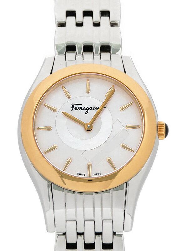【Salvatore Ferragamo】【'18年購入】フェラガモ『リリカ』FG404-0014 レディース クォーツ 1週間保証【中古】