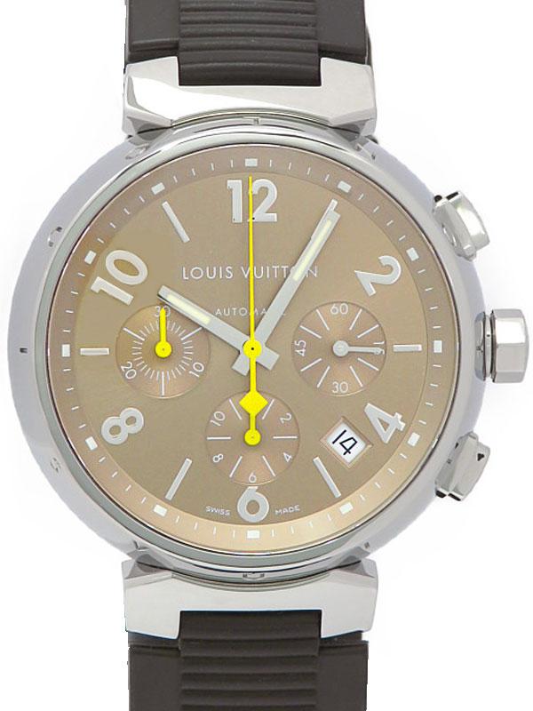 【LOUIS VUITTON】ルイヴィトン『タンブール クロノグラフ』Q1122 メンズ 自動巻き 3ヶ月保証【中古】