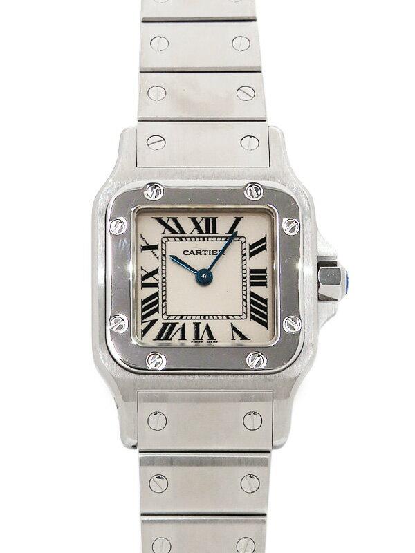 【Cartier】【電池交換・仕上済】カルティエ『サントスガルベSM』W20056D6 レディース クォーツ 3ヶ月保証【中古】