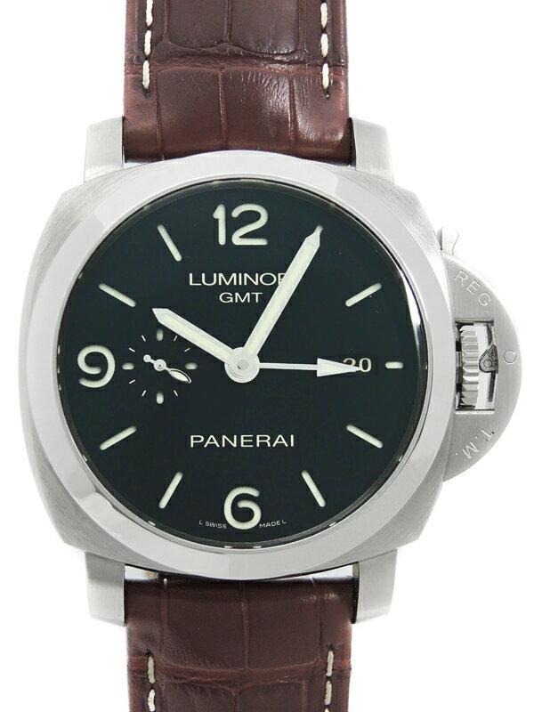 【PANERAI】【裏スケ】パネライ『ルミノール1950 3デイズ GMT』PAM00320 R番'15年製 メンズ 自動巻き 6ヶ月保証【中古】