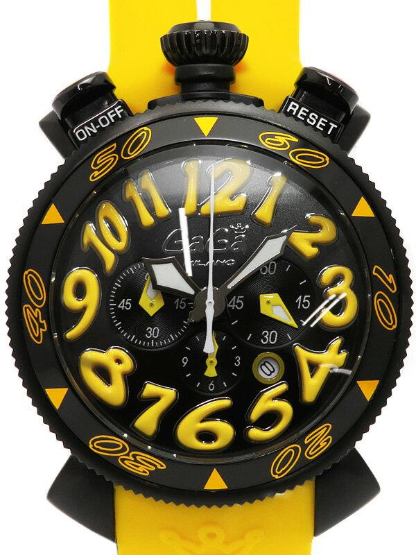 【GaGa MILANO】ガガミラノ『マヌアーレ クロノ 48mm』6054.4 メンズ クォーツ 1週間保証【中古】