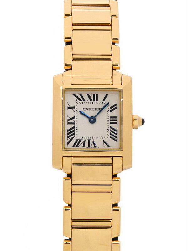 【Cartier】【YGケース】【電池交換・仕上済】カルティエ『タンクフランセーズSM』W50002N2 レディース クォーツ 6ヶ月保証【中古】