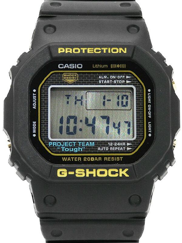 【CASIO】【G-SHOCK】【35周年記念モデル】【'18年購入】【美品】カシオ『Gショック』DW-5035D-1BJR ボーイズ クォーツ 1週間保証【中古】