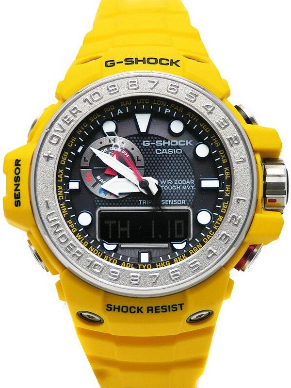 【CASIO】【G-SHOCK】【海外モデル】カシオ『Gショック ガルフマスター』GWN-1000-9ADR メンズ ソーラー電波クォーツ 1週間保証【中古】