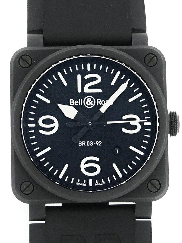【Bell&Ross】【'17年購入】ベルアンドロス『BR03-92 ブラックマット セラミック』BR0392-BL-CE/SRB メンズ 自動巻き 3ヶ月保証【中古】