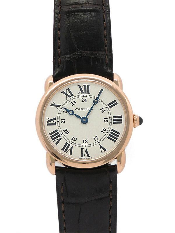 【Cartier】【PGケース】【電池交換・仕上済】カルティエ『ロンド』W6800151 レディース クォーツ 6ヶ月保証【中古】