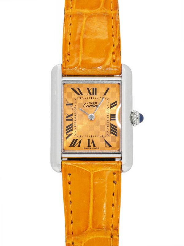 【Cartier】【電池交換済】カルティエ『マストタンクSM 2003年限定モデル』W1017654 レディース クォーツ 3ヶ月保証【中古】