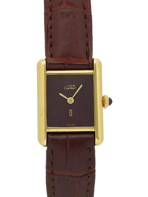 【Cartier】カルティエ『タンク ヴェルメイユ』レディース 手巻き 1ヶ月保証【中古】