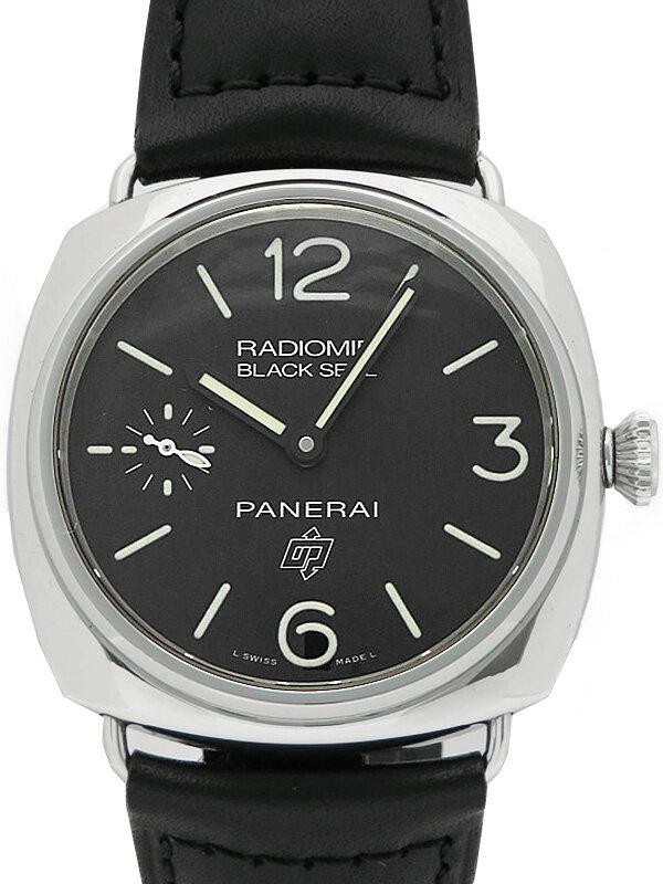 【PANERAI】【仕上済】パネライ『ラジオミール ブラックシール ロゴ』PAM00380 Q番'14年製 メンズ 手巻き 6ヶ月保証【中古】