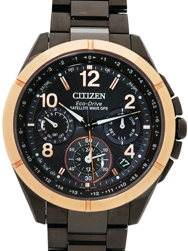 【CITIZEN】【'18年購入】シチズン『アテッサ エコドライブ』CC9076-50E メンズ ソーラー電波GPS 3ヶ月保証【中古】