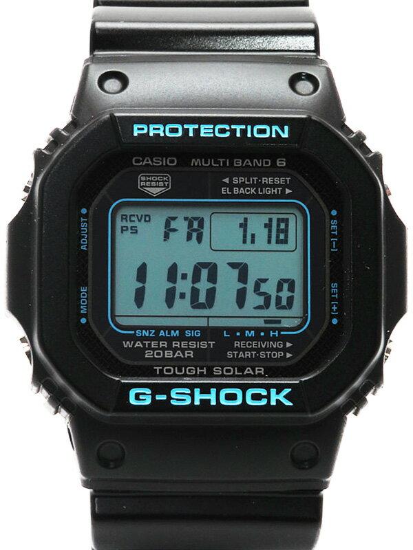 【CASIO】【G-SHOCK】【'19年購入】カシオ『Gショック ブラック×ブルーシリーズ』GW-M5610BA-1JF ボーイズ ソーラー電波クォーツ 1週間保証【中古】