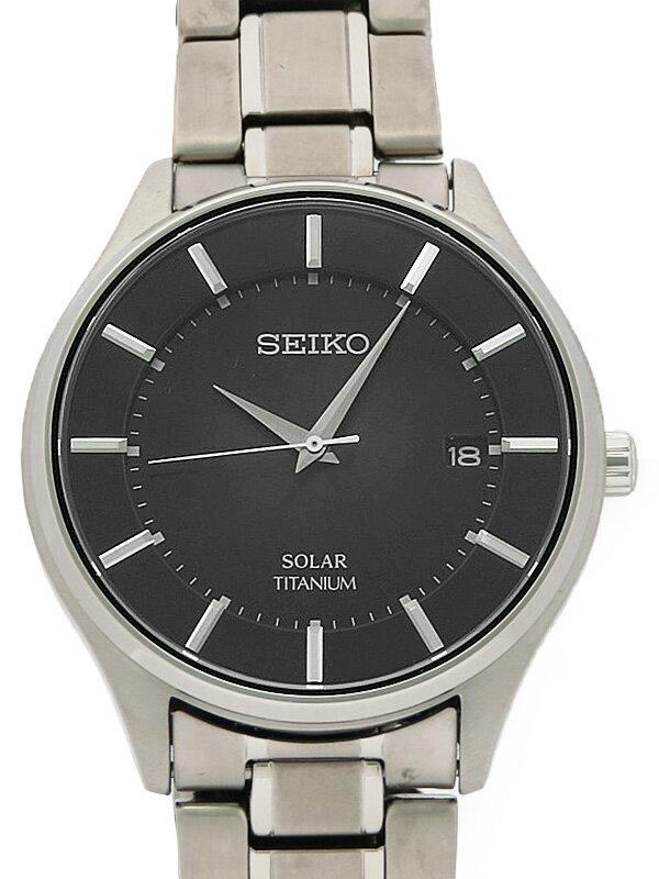 【SEIKO】【'18年購入】セイコー『セイコー セレクション』SBPX103 V157-0AX0 7D****番 メンズ ソーラークォーツ 1週間保証【中古】