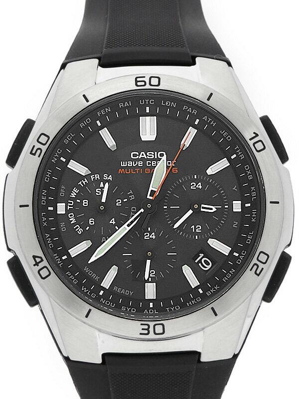 【CASIO】【美品】カシオ『ウェーブセプター』WVQ-M410-1A メンズ ソーラー電波クォーツ 1週間保証【中古】