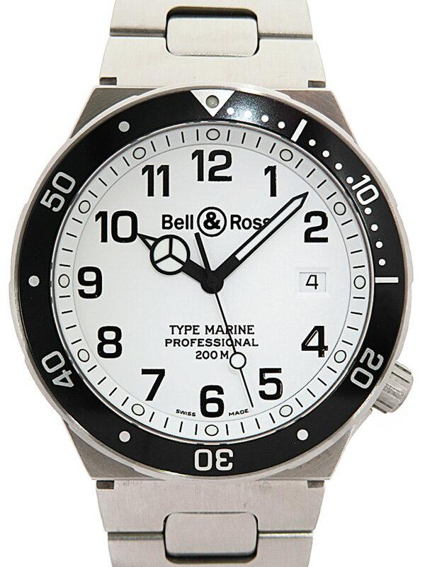 【Bell&Ross】【電池交換済】ベルアンドロス『タイプ マリーン』メンズ クォーツ 1ヶ月保証【中古】