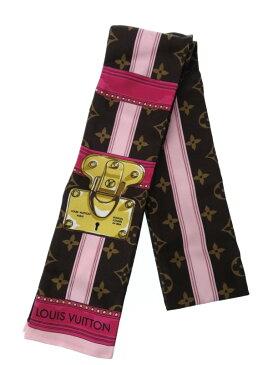 【LOUIS VUITTON】【イタリア製】ルイヴィトン『バンドー・サマートランク』M70746 レディース スカーフ 1週間保証【中古】b01f/h02AB