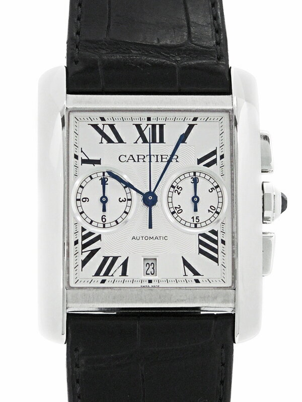 【Cartier】【裏スケ】【仕上済】カルティエ『タンクMC クロノグラフ』W5330007 メンズ 自動巻き 6ヶ月保証【中古】