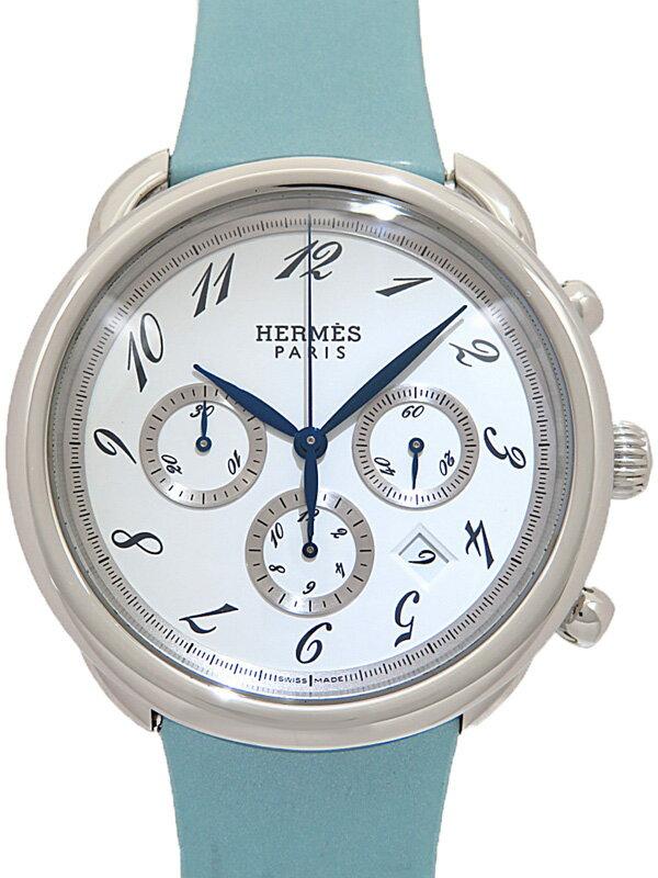 【HERMES】【仕上済】エルメス『アルソー クロノグラフ』AR4.910 メンズ 自動巻き 3ヶ月保証【中古】