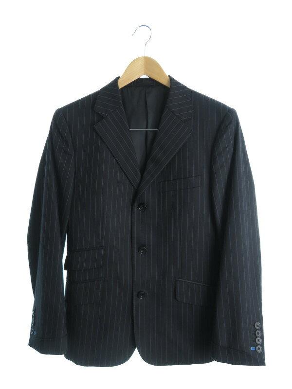 【BURBERRY BLACK LABEL】【Super110's】【TASMANIA WOOL】バーバリーブラックレーベル『シングルスーツ上下セット size38R』メンズ セットアップ【中古】