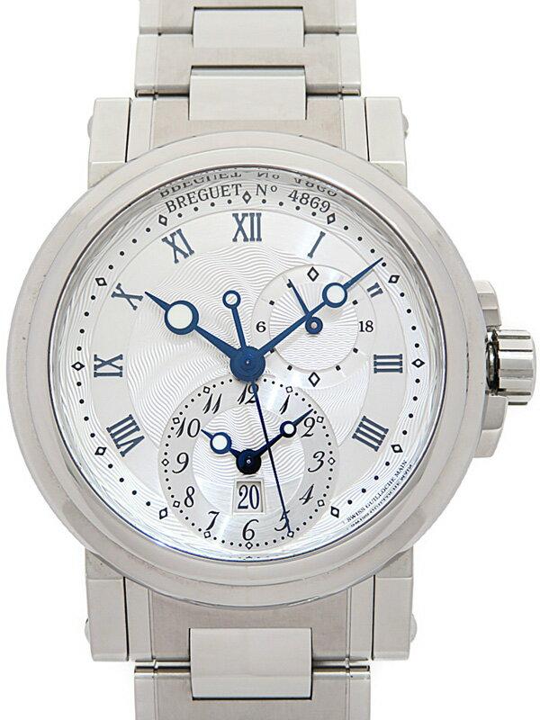 【Breguet】【裏スケ】ブレゲ『マリーン GMT』5857ST/12/SZO メンズ 自動巻き 6ヶ月保証【中古】