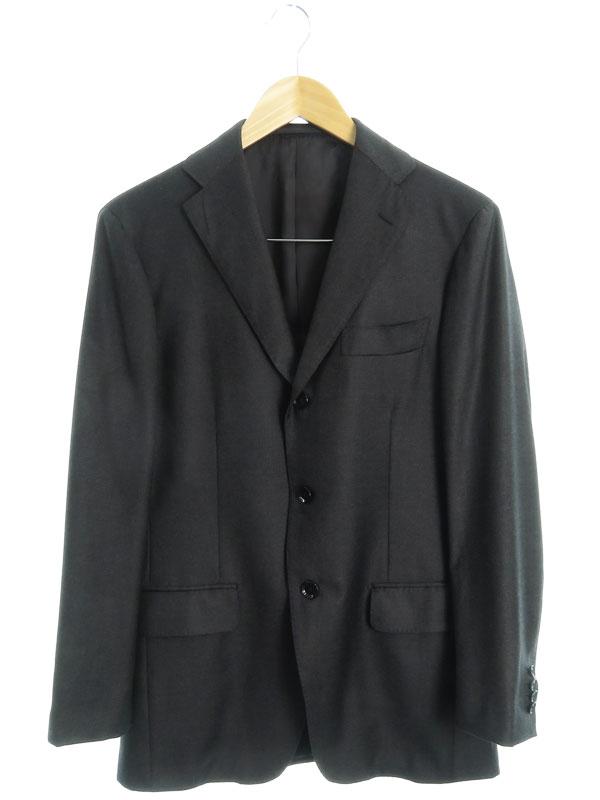 【salotto di guji】【ロロピアーナ】【FOUR SEASONS】【Super 130'S Wool】【上下セット】『3ピーススーツsize46』RE028S58B メンズ セットアップ【中古】