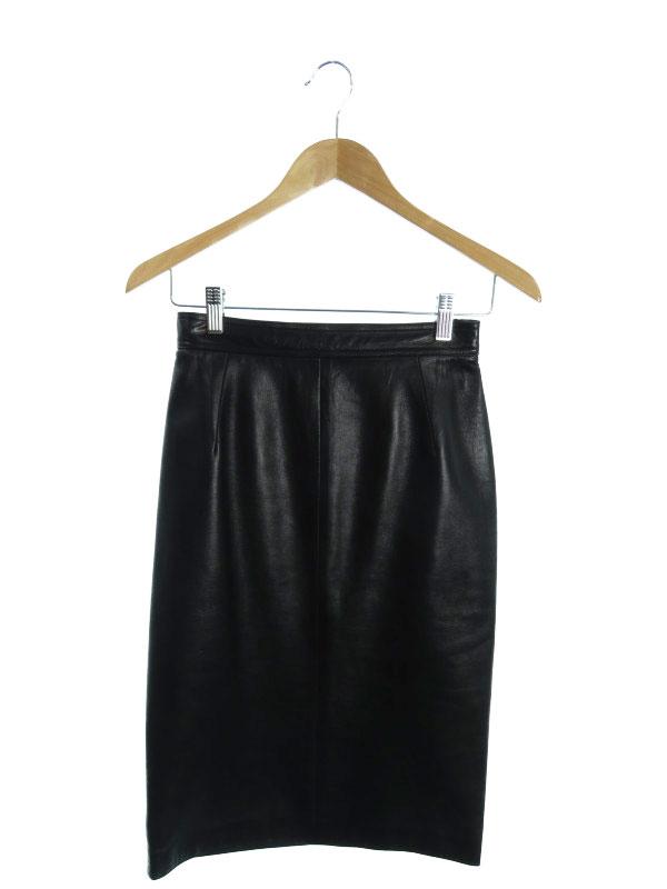 【LOEWE】【スペイン製】【ボトムス】ロエベ『レザータイトスカート size40』レディース 1週間保証【中古】