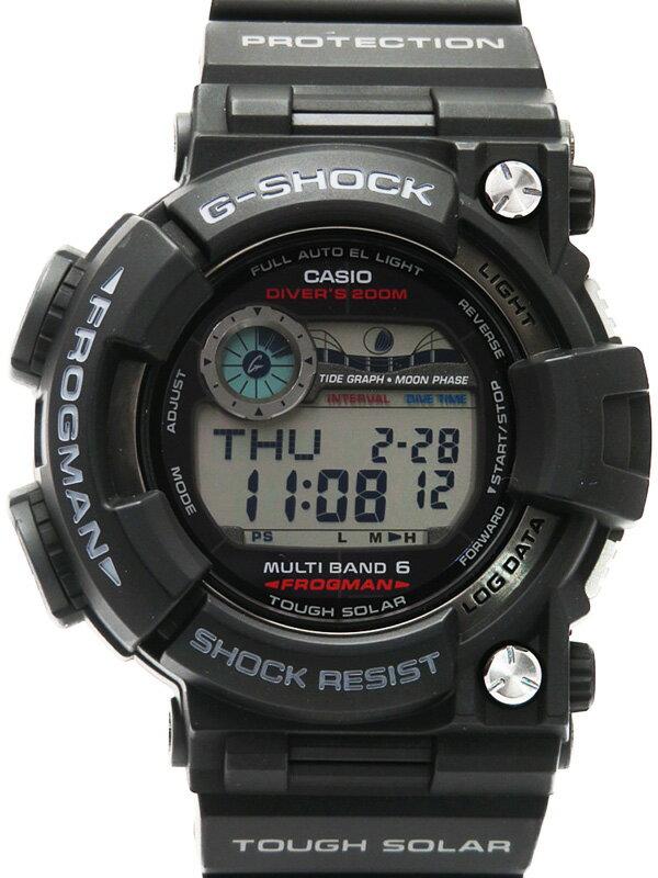 【CASIO】【G-SHOCK】カシオ『Gショック フロッグマン』GWF-1000-1 メンズ ソーラー電波クォーツ 1週間保証【中古】