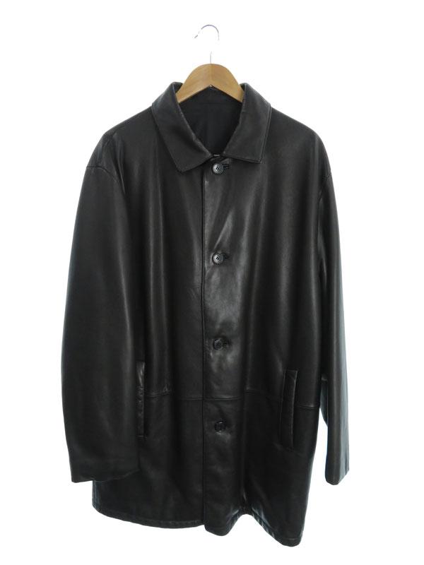 【LOEWE】【アウター】ロエベ『中綿レザーコート size52』メンズ 1週間保証【中古】