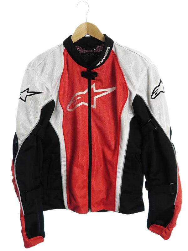【alpinestars】【バイクウェア】【上下セット】アルパインスターズ『プロテクター付 メッシュセパレートレーシングスーツ sizeL』メンズ セットアップ【中古】