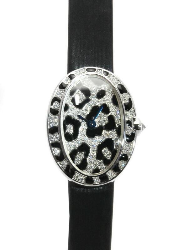 【Cartier】【WGケース】カルティエ『ミニ ベニュワール パンテール スポッツ ウォッチ ダイヤモンド』HPI00703 レディース クォーツ 6ヶ月保証【中古】