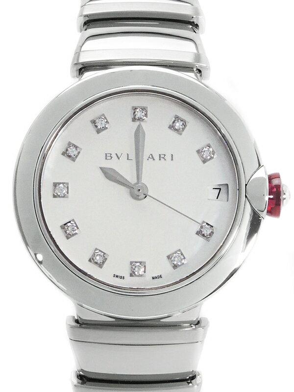 【BVLGARI】【裏スケ】【仕上済】ブルガリ『ルチュア 11Pダイヤ』LU33A レディース 自動巻き 3ヶ月保証【中古】