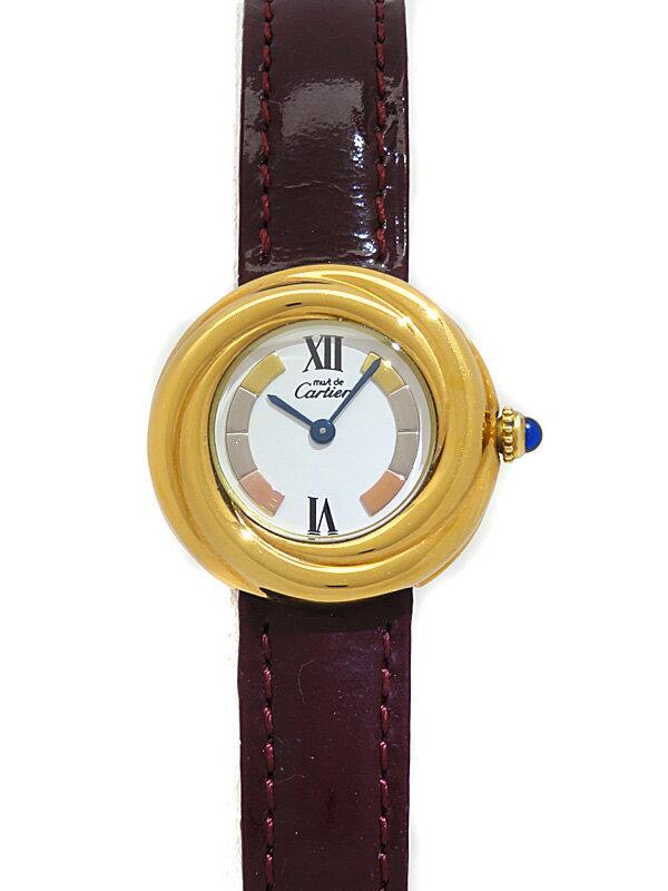 【Cartier】【OH・電池交換済】カルティエ『マスト トリニティ ヴェルメイユ』W1010744 レディース クォーツ 3ヶ月保証【中古】