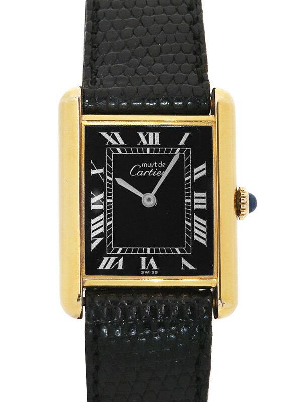 【Cartier】【ブラックローマン】【内部点検済】カルティエ『マストタンク ヴェルメイユ』レディース 手巻き 1ヶ月保証【中古】