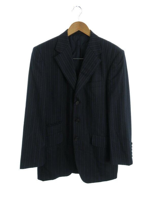 【Paul Smith】【セットアップ】【日本製】ポールスミス『ストライプ柄スーツ上下セット sizeL』SC-ST-59936 メンズ 1週間保証【中古】