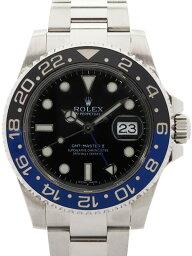 【ROLEX】【'14年購入】ロレックス『GMTマスター2 青×黒ベゼル』116710BLNR ランダム番 メンズ 自動巻き 12ヶ月保証【中古】b03w/h12A