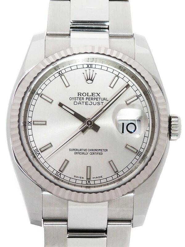 【ROLEX】【'19年購入】ロレックス『デイトジャスト』116234 ランダム番 メンズ 自動巻き 12ヶ月保証【中古】