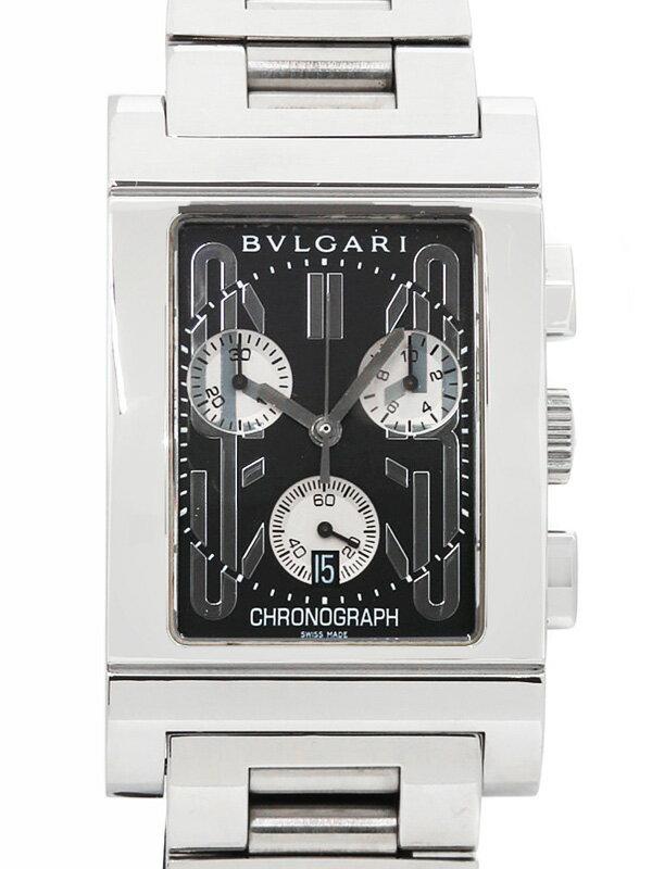 【BVLGARI】【電池交換・仕上済】ブルガリ『レッタンゴロ クロノグラフ』RTC49S メンズ クォーツ 3ヶ月保証【中古】