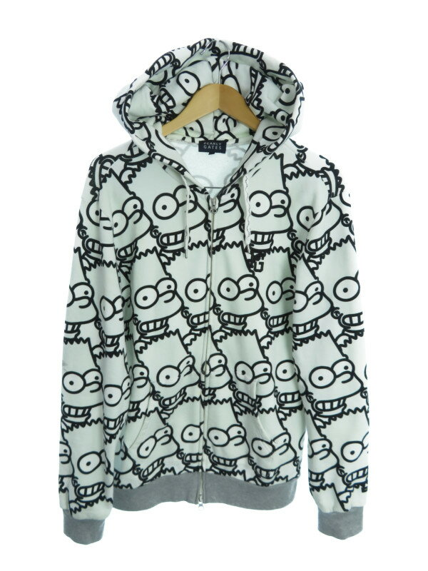 【PEARLY GATES】【THE SIMPSONS】【アウター】パーリーゲイツ『ジップアップパーカー size5』053-6262003 メンズ 1週間保証【中古】