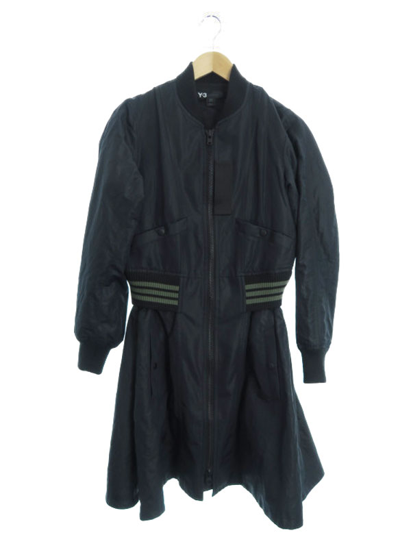 【Y-3】【flared Bomber Coat】【YOHJI YAMAMOTO】【アウター】ワイスリー『コート size2XS/2TP』AC1074 レディース 1週間保証【中古】