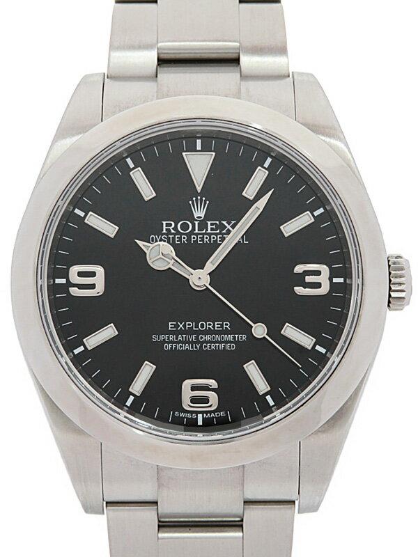 【ROLEX】【'15年購入】【仕上済】ロレックス『エクスプローラー1』214270 ランダム番 メンズ 自動巻き 12ヶ月保証【中古】