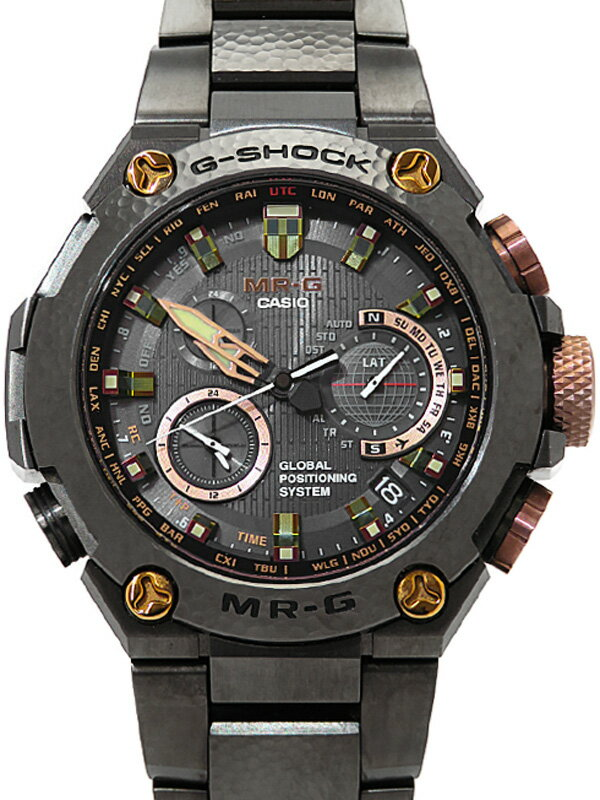 【CASIO】【G-SHOCK】【バーゼルワールド限定300本】【GPSハイブリッド電波ソーラー】カシオ『Gショック MR-G 20周年記念』MRG-G1000HT-1AJR 6ヶ月保証【中古】