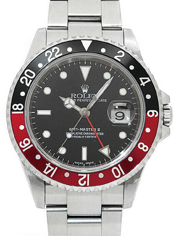 【ROLEX】【内部点検・仕上済】ロレックス『GMTマスター2 赤×黒ベゼル』16710 F番'04年頃製 メンズ 自動巻き 12ヶ月保証【中古】