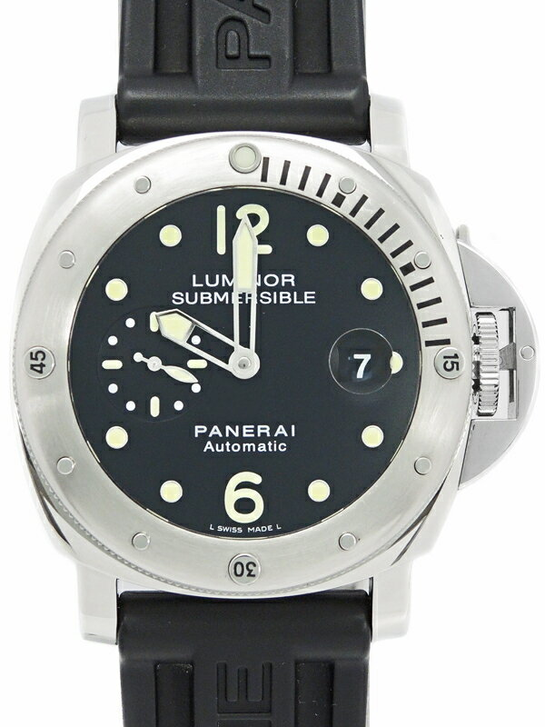 【PANERAI】【仕上済】パネライ『ルミノール サブマーシブル 44mm』PAM00024 Q番'14年製 メンズ 自動巻き 6ヶ月保証【中古】