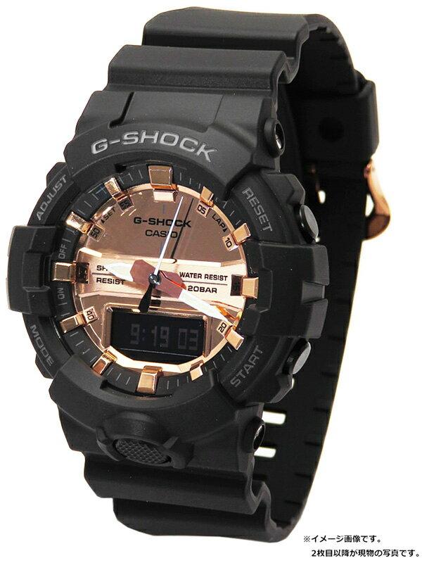 【CASIO】【G-SHOCK】【'19年購入】【美品】カシオ『Gショック ブラック&ローズゴールド』GA-800MMC-1AJF メンズ クォーツ 1週間保証【中古】