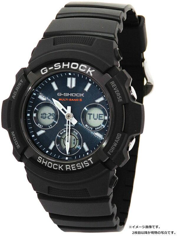【CASIO】【G-SHOCK】【海外モデル】カシオ『Gショック』AWG-M100SB-2AER メンズ ソーラー電波クォーツ 1週間保証【中古】